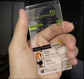 El móvil transparente podría llegar en 2013