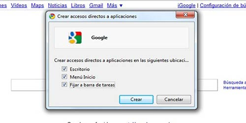 Crear accesos directos a paginas webs en el escritorio