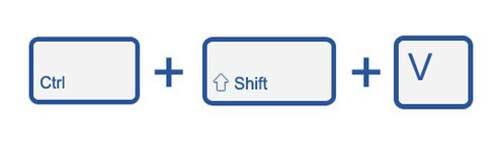 Cómo Pegar texto sin formato en Chrome