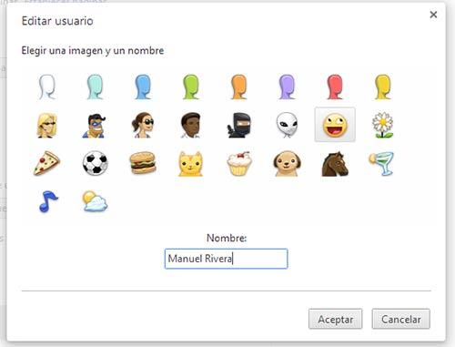 Configurar varios usuarios en Google Chrome