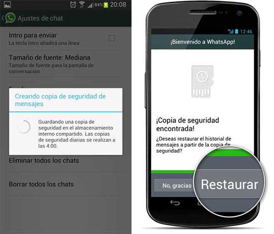 Recuperar conversaciones borradas de WhatsApp en Android