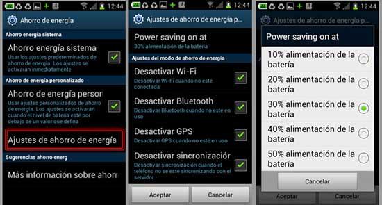 Aumentar la duración de la batería del Galaxy S4
