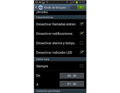 Activar Modo Bloque en Galaxy S4