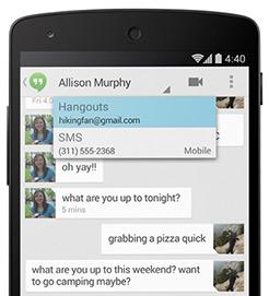 Aplicación de mensajería Hangouts
