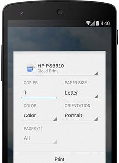 Imprimir archivos desde dispositivos con Android KitKat