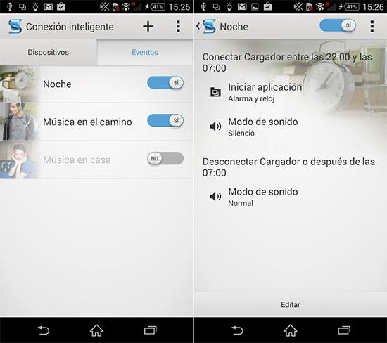 "Cómo usar ""Conexión Inteligente"" en Xperia Z1"