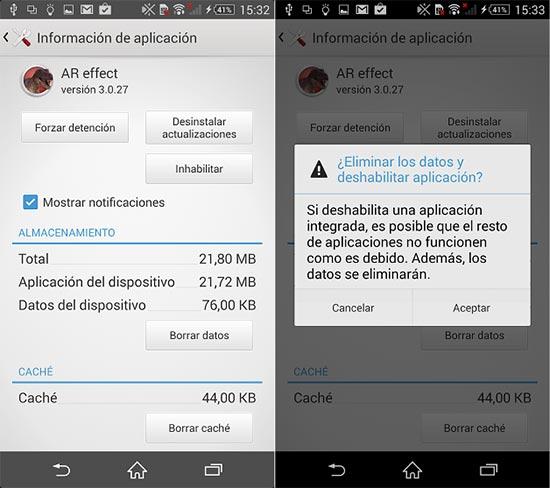 Desactivar el bloatware de las apps preinstaladas