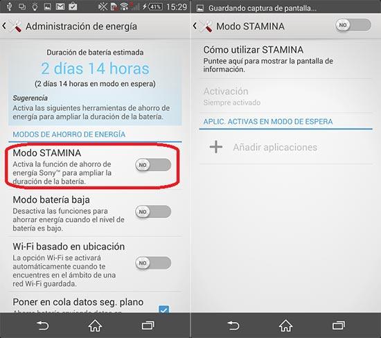 Cómo mejorar la duración de la batería del Xperia Z1