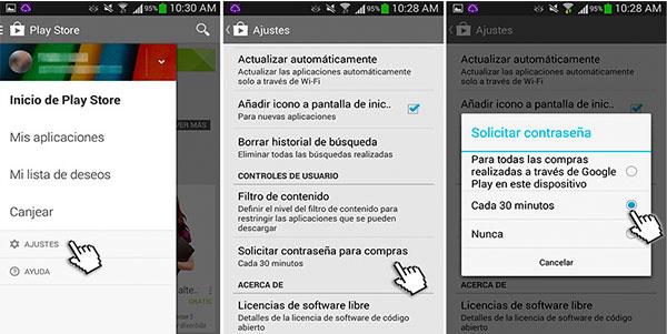Cómo evitar las compras accidentales en la Google Play Store de Android